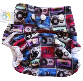 Little Birds OS Nappy Cover - Tape it Easy