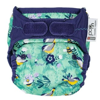 Single Printed Nappy Bamboo AI2 V2 - Round the Garden