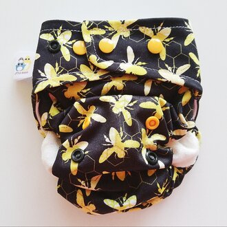 Little Birds Pocket Nappy (natural fibers) - Bee Mine
