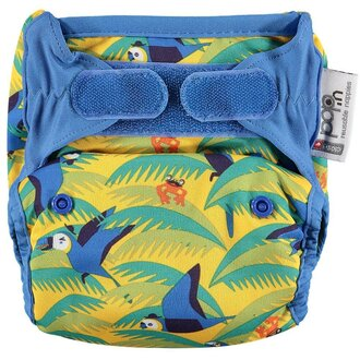 Pop-in Reusable Nappy Cover - Parrot