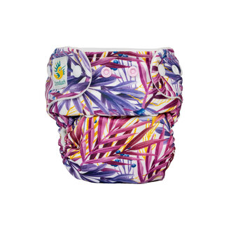 Doodush Pocket Nappy - Purple Leaves (Stay Dry)